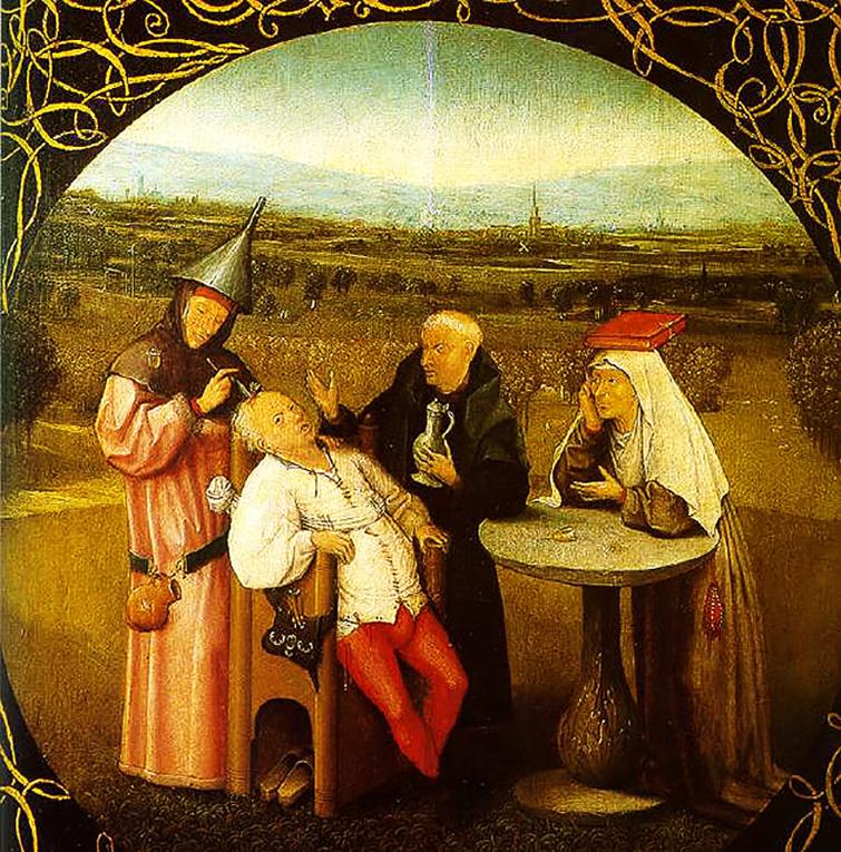 LA EXTRACCIÓN DE LA PIEDRA DE LA LOCURA, H. Bosch - (1475-1480)