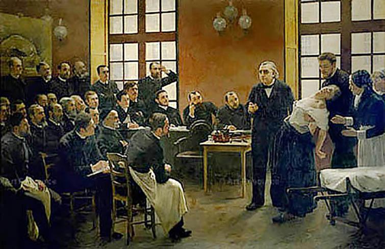 LECCIÓN CLÍNICA EN LA SALPETRIERE (1887)