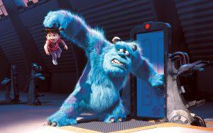 El monstruo Sully y la niña Boo en un clásico de Pixar