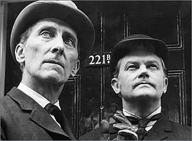 Peter Cushing en 221B Baker Street