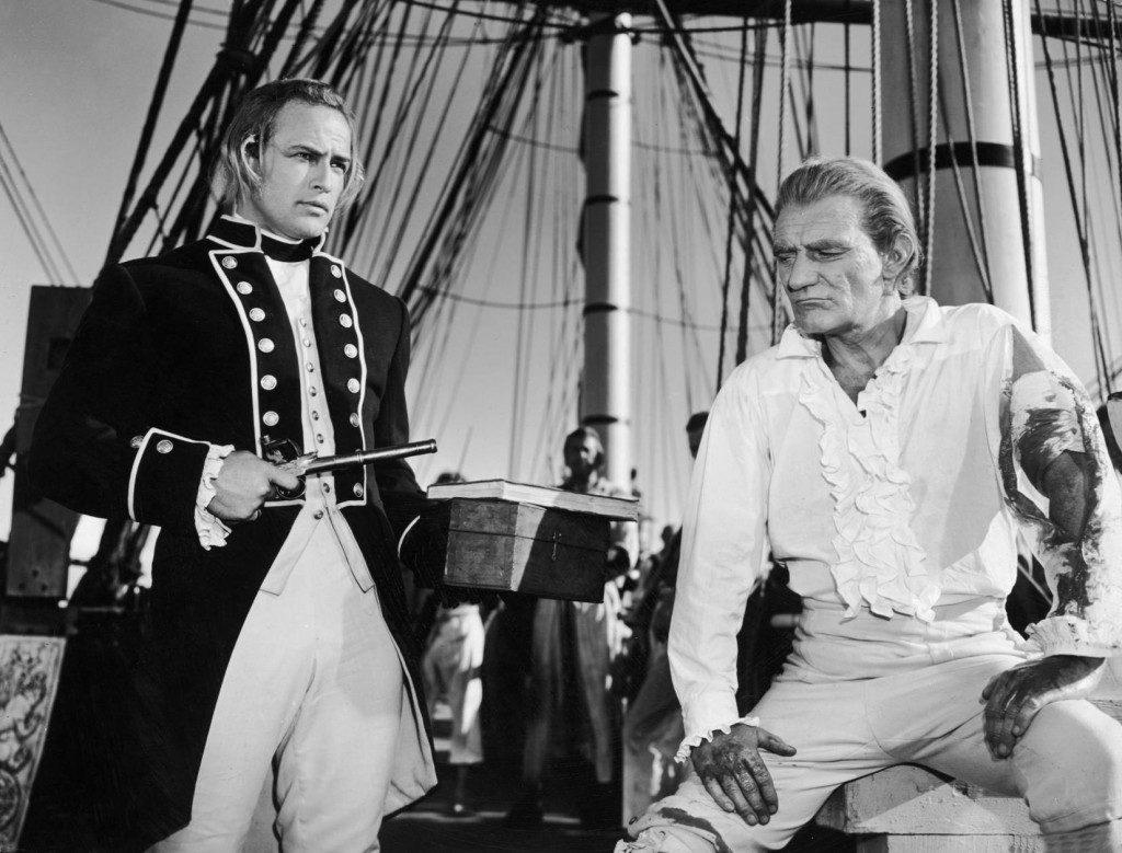 """Marlon Brando en """"Motín a bordo""""."""