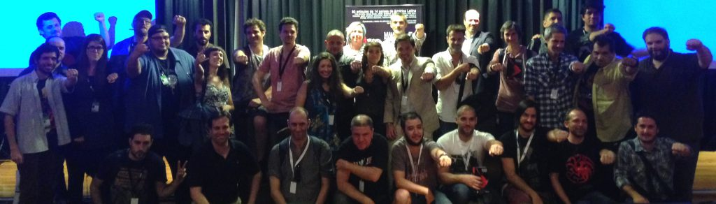 Varios integrantes de la LiGA durante el lanzamiento en Blood Window.