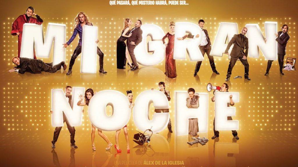 """Todas las estrellas de """"Mi gran noche"""" aparecen en el póster promocional de la película."""
