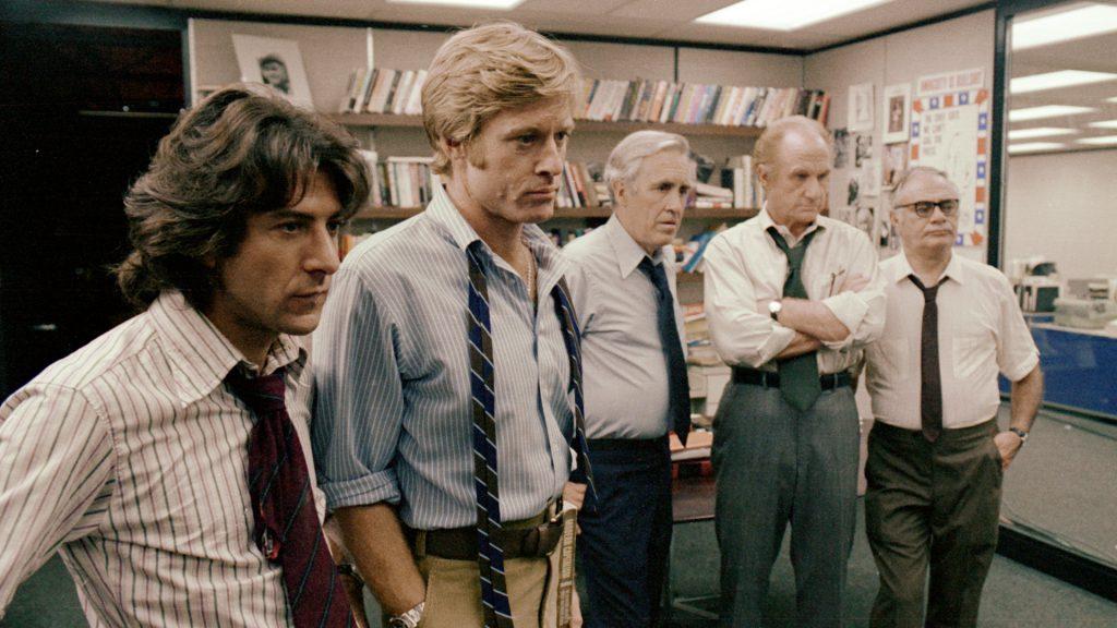 """Junto a Hoffman, Robert también interpretó a un periodista en """"Todos los hombres del presidente""""."""