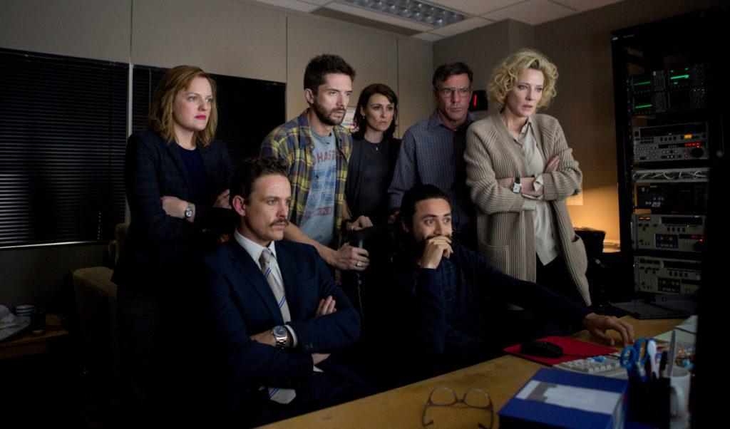 """Un gran elenco esteralizado por Cate Blanchett acompaña a Robert en """"Sólo la verdad""""."""