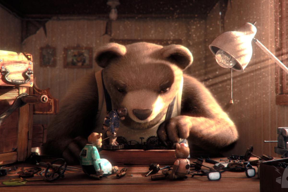"""Animación: proyección de """"Historia de un oso"""" en Buenos Aires"""