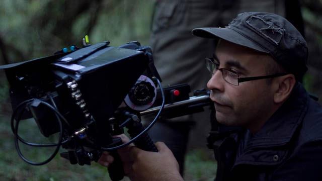El director en pleno rodaje del filme.