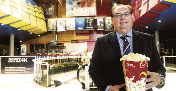 Jordi Chaparro en Cinema Center Tarija.
